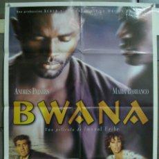 Cine: CDO 217 BWANA ANDRES PAJARES MARIA BARRANCO IMANOL URIBE BLACK CAST POSTER ORIGINAL 70X100 ESTRENO. Lote 194502900