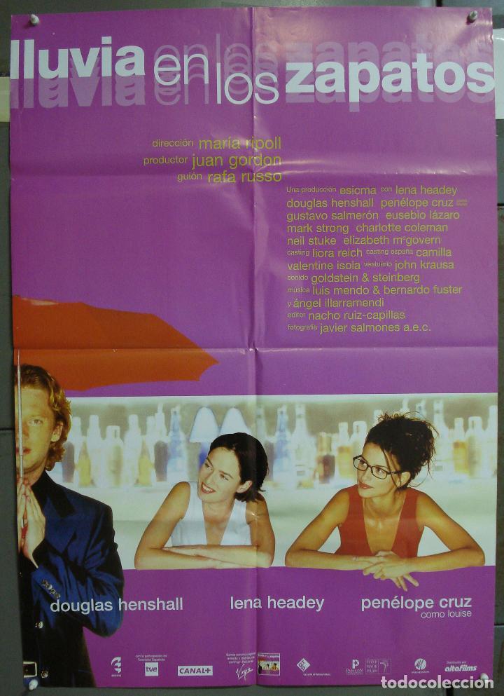 CDO 218 LLUVIA EN LOS ZAPATOS PENELOPE CRUZ MARIA RIPOLL POSTER ORIGINAL 70X100 ESTRENO (Cine - Posters y Carteles - Clasico Español)