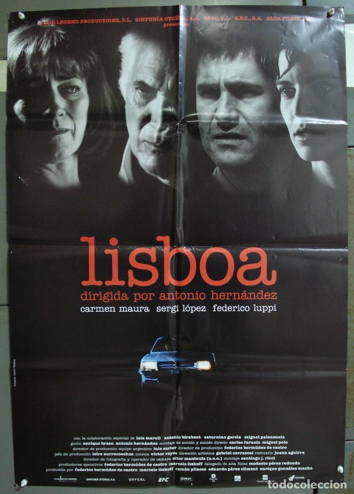 CDO 219 LISBOA CARMEN MAURA SERGI LOPEZ POSTER ORIGINAL 70X100 ESTRENO (Cine - Posters y Carteles - Clasico Español)