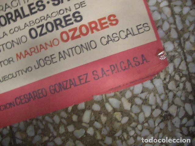 Cine: PÓSTER ORIGINAL DE 100X70CM LA GRADUADA CON LINA MORGAN Y SOSE LUIS LÓPEZ VÁZQUEZ - Foto 4 - 194504607
