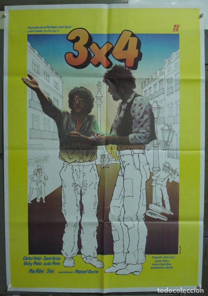 CDO 224 3X4 CARLOS VELAT VICKY PEÑA SANTI ARISA PAU RIBA SISA IBORRA POSTER ORIGINAL 70X100 ESTRENO (Cine - Posters y Carteles - Clasico Español)