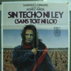 Cine: CDO 225 SIN TECHO NI LEY SANDRINE BONNAIRE AGNES VARDA POSTER ORIGINAL 70X100 ESTRENO. Lote 194508823