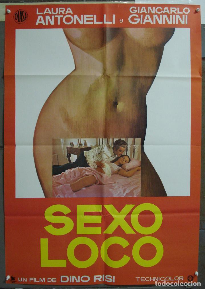 CDO 229 SEXO LOCO LAURA ANTONELLI GIANCARLO GIANNINI DINO RISI POSTER ORIGINAL 70X100 ESTRENO (Cine - Posters y Carteles - Comedia)