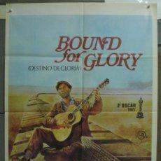Cine: CDO 231 BOUND FOR GLORY DAVID CARRADINE WOODY GUTHRIE HAL ASHBY POSTER ORIGINAL 70X100 ESTRENO. Lote 194511915