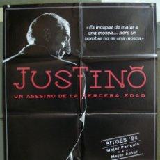 Cine: CDO 234 JUSTINO UN ASESINO DE LA TERCERA EDAD LA CUADRILLA POSTER ORIGINAL 70X100 ESTRENO. Lote 194513516