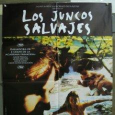 Cine: CDO 235 LOS JUNCOS SALVAJES ANDRE TECHINE CULT GAY POSTER ORIGINAL 70X100 ESTRENO. Lote 194513893