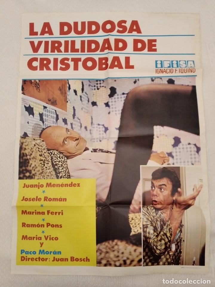LA DUDOSA VIRILIDAD DE CRISTÓBAL. CARTEL. DIRIGIDA JUAN BOSCH CON JUANJO MENÉNDEZ, MARÍA VICO (Cine - Posters y Carteles - Clasico Español)