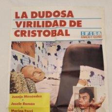 Cine: LA DUDOSA VIRILIDAD DE CRISTÓBAL. CARTEL. DIRIGIDA JUAN BOSCH CON JUANJO MENÉNDEZ, MARÍA VICO. Lote 194514072