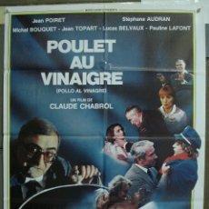 Cine: CDO 236 POLLO AL VINAGRE CLAUDE CHABROL POSTER ORIGINAL 70X100 ESTRENO. Lote 194514317