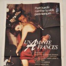 Cine: UN AMANTE FRANCÉS. CARTEL. DIRIGIDA POR RICHARD MARQUAND CON KAREN ALLEN, THIERRY LHERMITTE. Lote 194514547