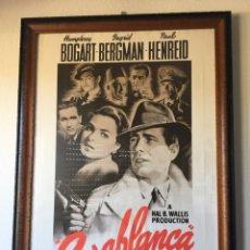 Cine: CARTEL DE LA PELÍCULA CASA BLANCA CON CRISTAL. Lote 194555073