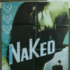 Cine: CDO 240 INDEFENSO NAKED MIKE LEIGH DAVID THEWLIS POSTER ORIGINAL ESTRENO 70X10. Lote 194577266