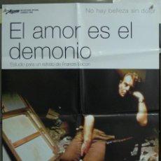 Cine: CDO 244 EL AMOR ES EL DEMONIO FRANCIS BACON DEREK JACOBI DANIEL CRAIG POSTER ORIGINAL ESTRENO 70X10. Lote 194581052