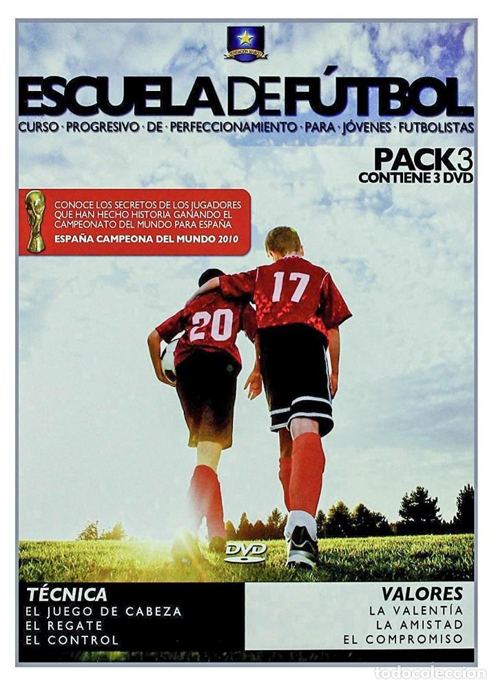 3 DVD PRECINTADOS - ESCUELA DE FUTBOL. CURSO PROGRESIVO PERFECCIONAMIENTO PARA JOVENES FUTBOLISTAS (Cine - Posters y Carteles - Deportes)