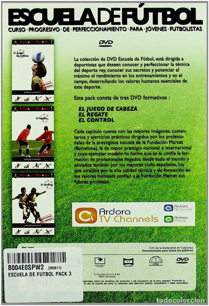 Cine: 3 DVD PRECINTADOS - ESCUELA DE FUTBOL. CURSO PROGRESIVO PERFECCIONAMIENTO PARA JOVENES FUTBOLISTAS - Foto 2 - 194597223