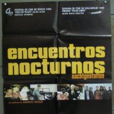 Cine: CDO 273 ENCUENTROS NOCTURNOS ANDREAS DRESEN POSTER ORIGINAL 70X100 ESTRENO. Lote 194606385