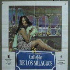 Cine: CDO 275 EL CALLEJON DE LOS MILAGROS SALMA HAYEK POSTER ORIGINAL 70X100 ESTRENO. Lote 194606997
