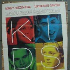Cine: CDO 279 KIDS LARRY CLARK POSTER ORIGINAL 70X100 ESTRENO. Lote 194611576