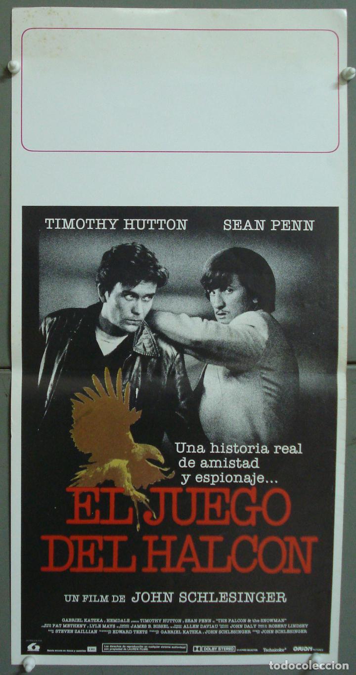 CDO 281 EL JUEGO DEL HALCON SEAN PENN TIMOTHY HUTTON POSTER ORIGINAL 30X60 ESTRENO (Cine - Posters y Carteles - Suspense)