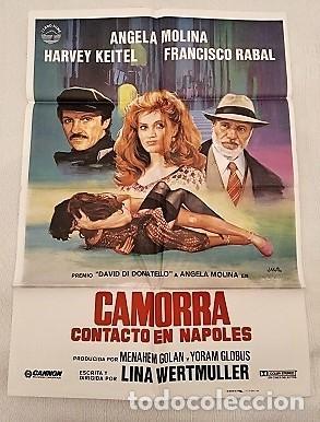 CAMORRA: CONTACTO EN NÁPOLES. CARTEL. DIRIGIDA POR LINA WERTMULLER CON ÁNGELA MOLINA, HARVEY KEITEL (Cine - Posters y Carteles - Clasico Español)