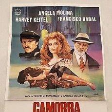 Cine: CAMORRA: CONTACTO EN NÁPOLES. CARTEL. DIRIGIDA POR LINA WERTMULLER CON ÁNGELA MOLINA, HARVEY KEITEL. Lote 194619011