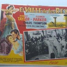 Cine: EL VALLE DE LOS REYES ROBERT TAYLOR ELEANOR PARKER LOBBY CARD MEXICO. Lote 194621681
