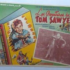 Cine: LA AVENTURAS DE TOM SAWYER TOMMY KELLY WALTER BRENNAN LOBBY CARD MEXICO. Lote 194623118