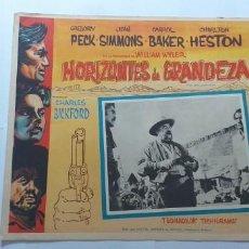 Cine: HORIZONTES DE GRANDEZA GREGORY PECK JEAN SIMMONS CHARLTON HESTON LOBBY CARD MEXICO. Lote 194630118