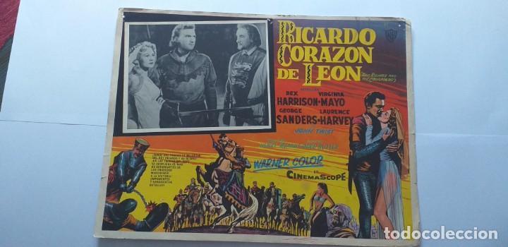 EL TALISMAN(RICARDO CORAZON DE LEON) REX HARRISON VIRGINIA MAYO LOBBY CARD MEXICO (Cine - Posters y Carteles - Aventura)