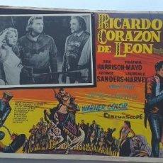 Cine: EL TALISMAN(RICARDO CORAZON DE LEON) REX HARRISON VIRGINIA MAYO LOBBY CARD MEXICO. Lote 194630735
