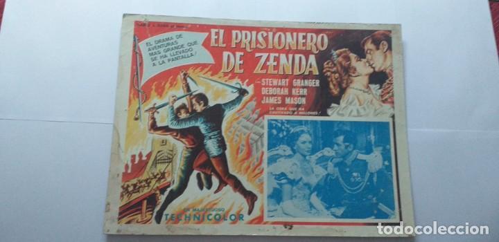 EL PRISIONERO DE ZENDA STEWART GRANGER DEBORAH KERR LOBBY CARD MEXICO (Cine - Posters y Carteles - Aventura)