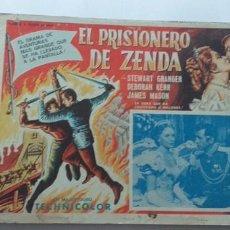 Cine: EL PRISIONERO DE ZENDA STEWART GRANGER DEBORAH KERR LOBBY CARD MEXICO . Lote 194634791