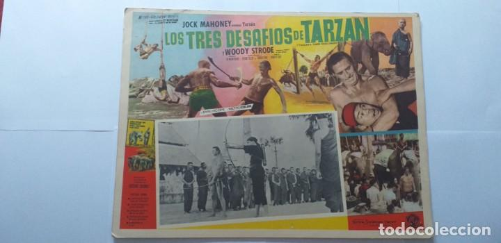 TARZAN EN PELIGRO(LOS TRES DESAFIOS DE TARZAN) JOCK MAHONEY WOODY STRODE LOBBY CARD MEXICO (Cine - Posters y Carteles - Aventura)