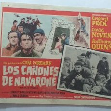 Cine: LOS CAÑONES DE NAVARONE GREGORY PECK DAVID NIVEN ANTHONY QUINN LOBBY CARD MEXICO. Lote 194637611