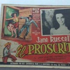 Cine: EL PROSCRITO JANE RUSELL LOBBY CARD MEXICO. Lote 194638270
