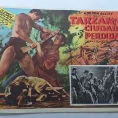 Cine: TARZAN Y LA CIUDAD PERDIDA GORDON SCOTT LOBBY CARD MEXICO. Lote 194653690