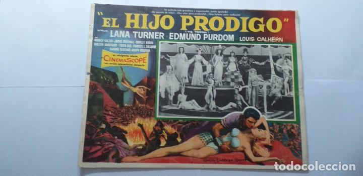 EL HIJO PRODIGO LANA TURNER EDMUND PURDOM LOBBY CARD MEXICO (Cine - Posters y Carteles - Aventura)