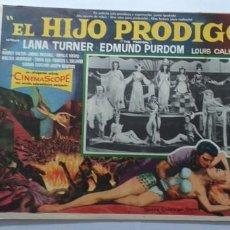 Cine: EL HIJO PRODIGO LANA TURNER EDMUND PURDOM LOBBY CARD MEXICO. Lote 194654136