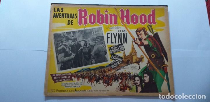 ROBIN DE LOS BOSQUES ERROL FLYNN OLIVIA DE HAVILLAND LOBBY CARD MEXICO (Cine - Posters y Carteles - Aventura)