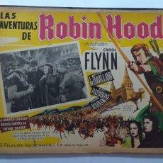 Cine: ROBIN DE LOS BOSQUES ERROL FLYNN OLIVIA DE HAVILLAND LOBBY CARD MEXICO. Lote 194654565