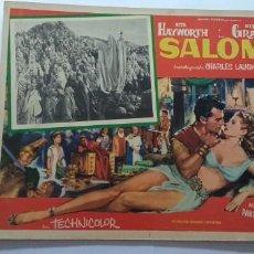 Cine: SALOME RITA HAYWORTH STEWART GRANGER LOBBY CARD MEXICO. Lote 194655111