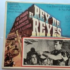 Cine: REY DE REYES JEFFREY HUNTER LOBBY CARD MEXICO. Lote 194657395