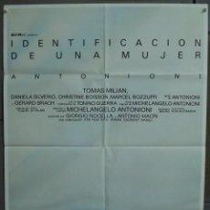 Cine: CDO 285 IDENTIFICACION DE UNA MUJER MICHELANGELO ANTONIONI POSTER ORIGINAL 70X100 ESTRENO. Lote 194674075