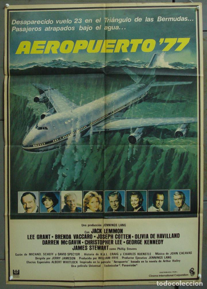 CDO 289 AEROPUERTO 77 JACK LEMMON CHRISTOPHER LEE POSTER ORIGINAL 70X100 ESTRENO (Cine - Posters y Carteles - Suspense)
