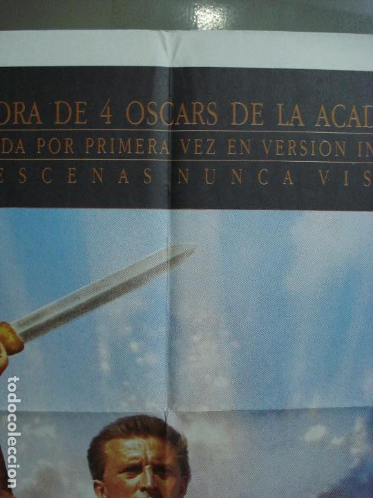 Cine: CDO 293 ESPARTACO STANLEY KUBRICK KIRK DOUGLAS POSTER ORIGINAL 70X100 ESPAÑOL R-91 - Foto 2 - 194718085