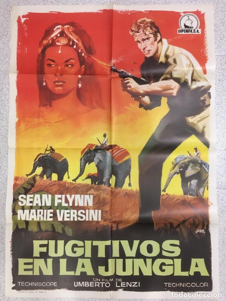 FUGITIVOS EN LA JUNGLA (Cine - Posters y Carteles - Aventura)