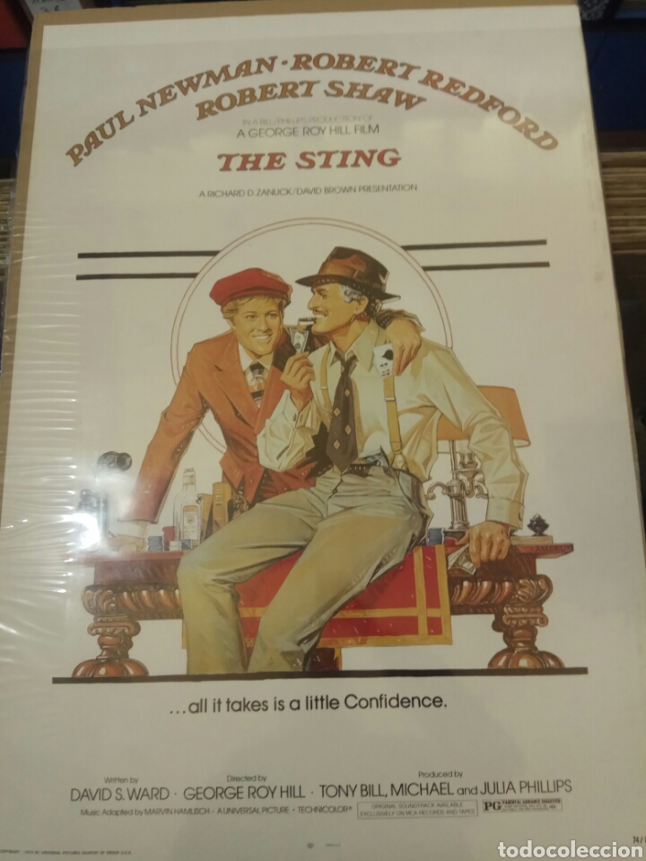 PÓSTER EL GOLPE THE STING 60 X 90 (Cine - Posters y Carteles - Comedia)