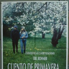 Cine: CDO 301 CUENTO DE PRIMAVERA ERIC ROHMER POSTER ORIGINAL 70X100 ESTRENO. Lote 194770953