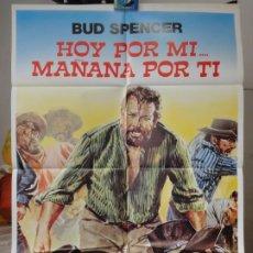 Cine: POSTER ORIGINAL OGGI A ME DOMANI A TE TODAY IT'S ME HOY POR MI MAÑANA POR TI BUD SPENCER CERVI 1968. Lote 194784938
