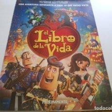 Cine: EL LIBRO DE LA VIDA - POSTER ORIGINAL. Lote 194787852